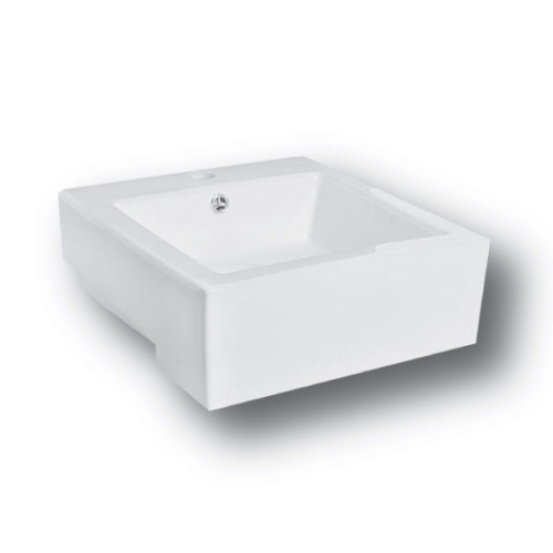 Sophia 420mm Semi Recessed Counter Top Basin - 1 Tap Hole